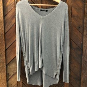 Olivaceous Size Medium Gray Sweater with zippers